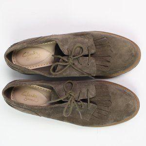 Clarks Shoes - Clarks Somerset brown suede kiltie oxford shoe